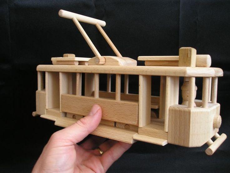Historische Straßenbahn Holzspielzeug für Kinder