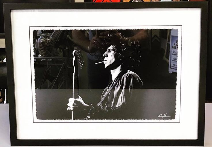 Keith Richards photograph taken by local Denver photographer Michael Goldman! #art #pictureframing #customframing #denver #colorado #keithrichards #therollingstones