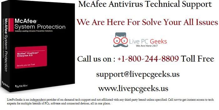 #McAfee #Antivirus #Technical #Support Service For All Issues : +1-800-244-8809