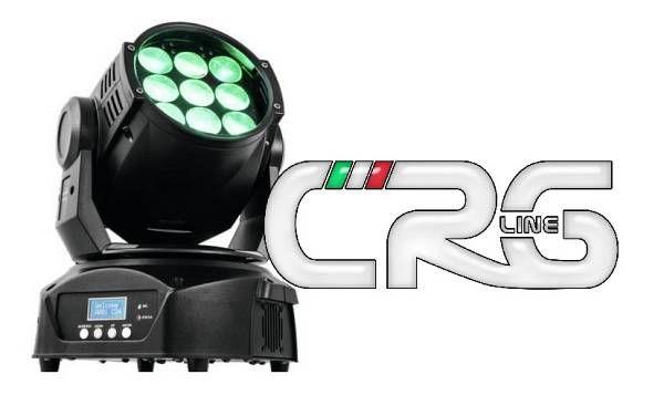 Testa mobile LED TMH-90 9x10w RGBW wash con zoom 5-22 gradi