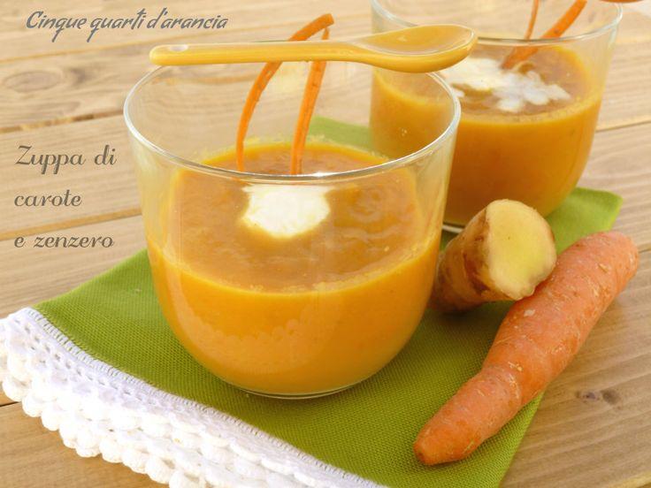 Zuppa di carote e zenzero (ricetta light)