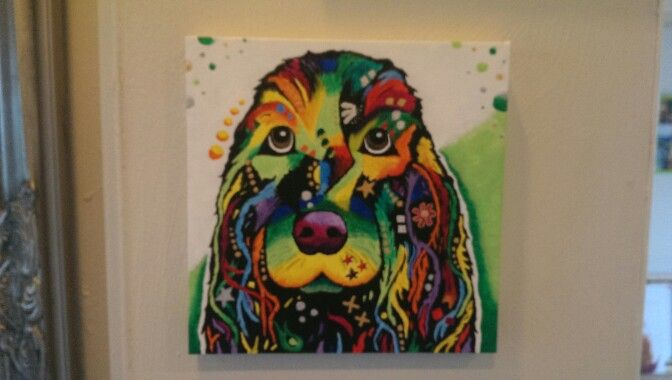 Colorful dog by LBClausen