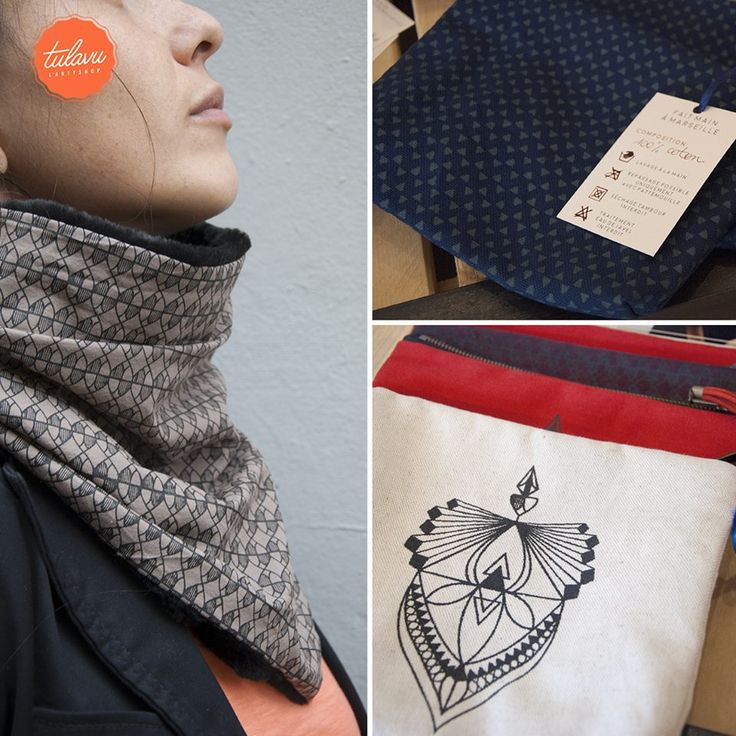 //Collection LUCIL// #Pochettes #Echarpes & #CacheCols #MadeInFrance #MadeInMarseille
