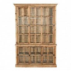 Reclaimed pine vitrine dresser