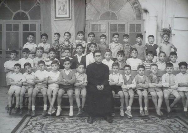 Alumnado de los Hermanos Maristas  de Huelva, 1959.