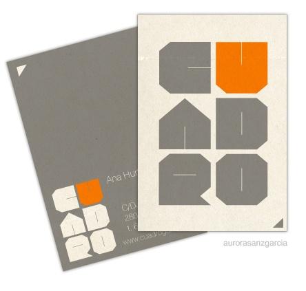 CUADRO logo / tarjeta by [ gasdsgn ] www.gasdsgn.com, via Flickr bussines card, brand