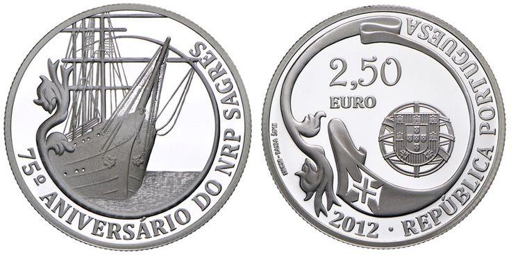 Portugal Circulación 30.10.2012 Motivo Colección de monedas de los NRP Sagres