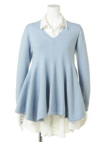 Amazon.co.jp: (スナイデル) snidel レイヤードニットフレアワンピース: 服&ファッション小物