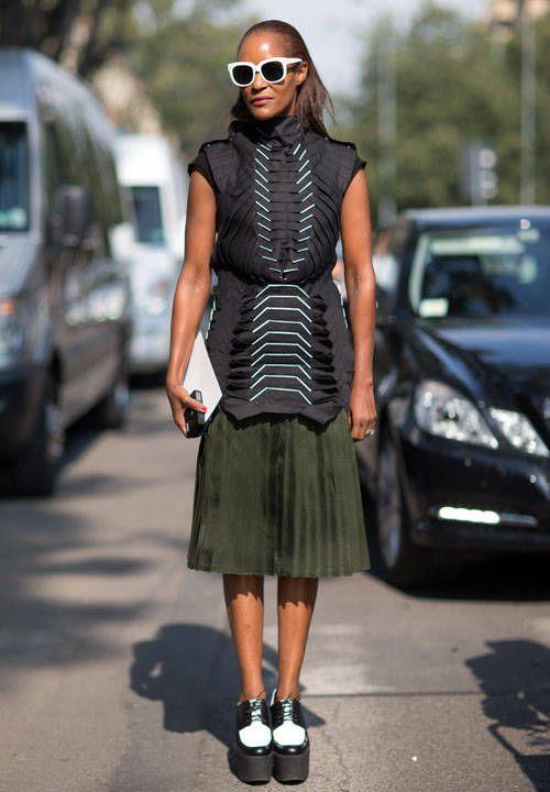 Street Style Milan Fashion Week Spring 2014 - Milan Fashion Week Spring  Street Style - Harper's