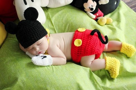 Baby Mickey Mouse Costume!