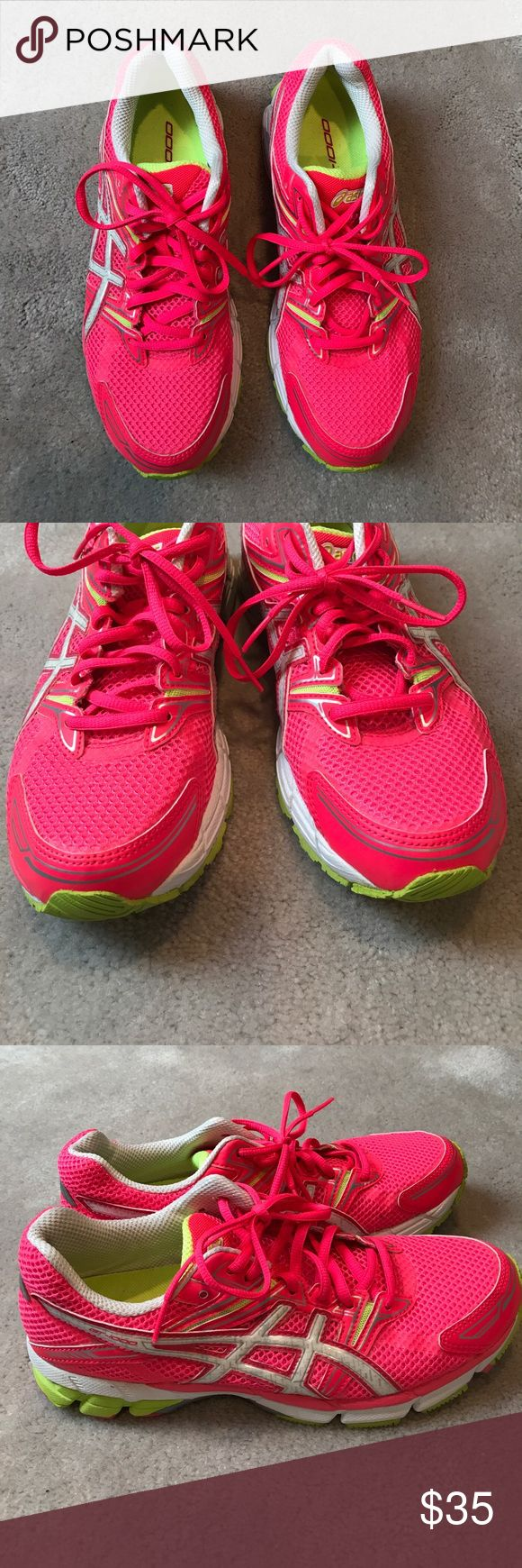 Asics hot pink sneakers excellent condition 9 Once worn . Uppers look new Asics Shoes Sneakers
