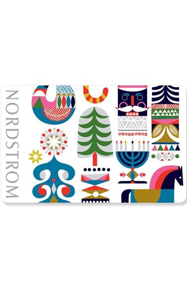 Holiday Elements Gift Card Design. Illustrator Sanna Annukka for Nordstrom Holiday 2015. Gorgeous!