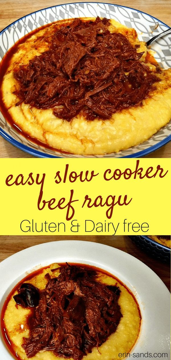 Easy slow cooker beef ragu