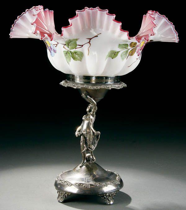Victorian Bride's Basket late 19th century