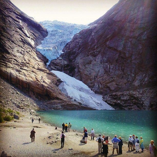 Glacier Briksdalsbreen in Stryn, Sogn og Fjordane, Norway