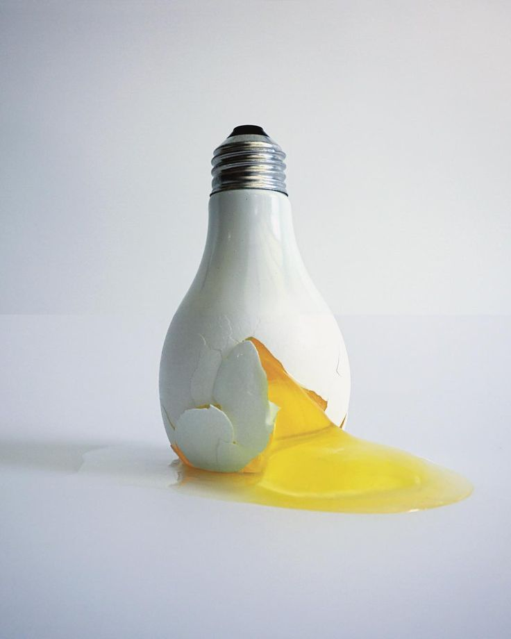 lightbulb + egg  R.I.P. to all the eggs lost on this one. I welcome all clever/punny commentary. #combophoto