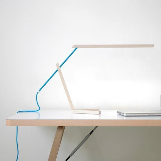 MANTIS - Lampe à poser LED Bois/Bleu L56cm Vertigo Bird