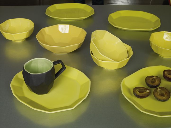 Hexa yellow tableware range with dinner plates bowls and mugs inspired by geometric shapes & 34 best Habitat brights images on Pinterest | 2014 trends Design ...