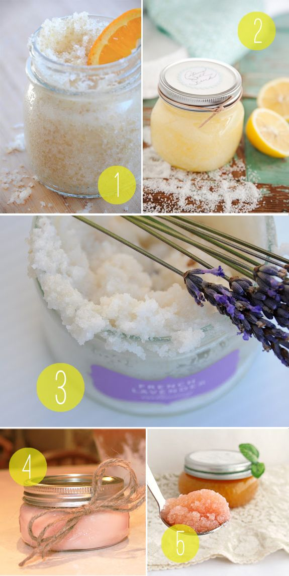 1/2 cup sea salt   1/2 cup sweet almond oil   (can substitute light olive oil or vegetable oil)   1/2 teaspoon lemon zest   1/2 teaspoon orange zest