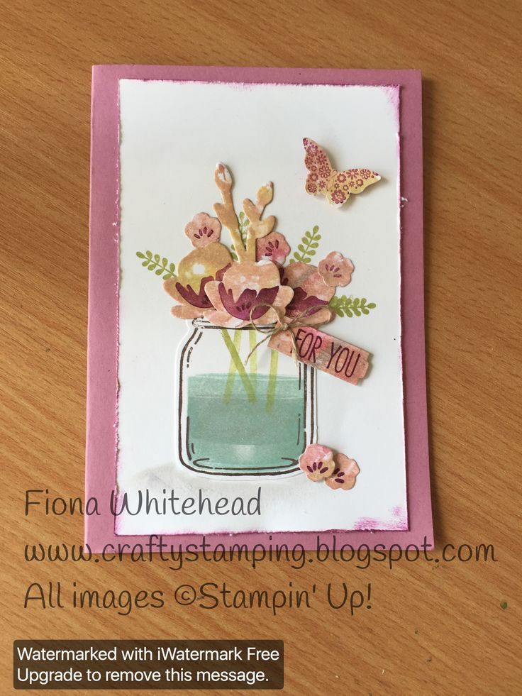 Stampin Up Jar of Love. www.craftystamping.blogspot.com
