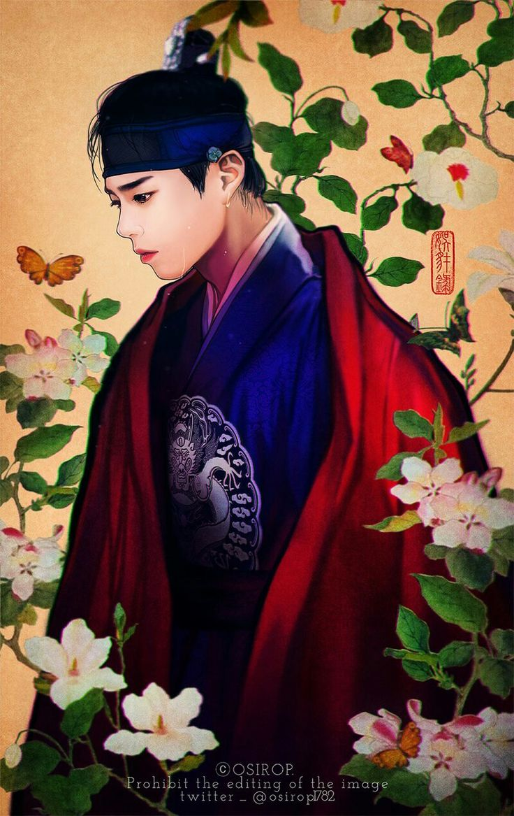 Park Bogum fanart from Moonlight drawn by clouds the huge popular korean period drama in 2016. All credit to the owner as tag.