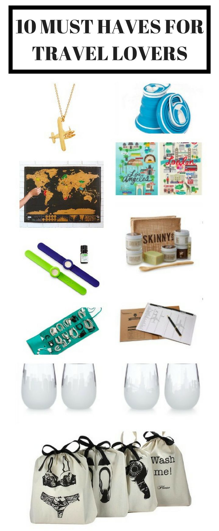 10 must have items for travel lovers / Are you a travel lover dreaming of faraway lands or exciting city trips? Check out the list of must have items for travelling & wanderlusting! / travel packing, travel list, packing bags, travel map, travel beauty