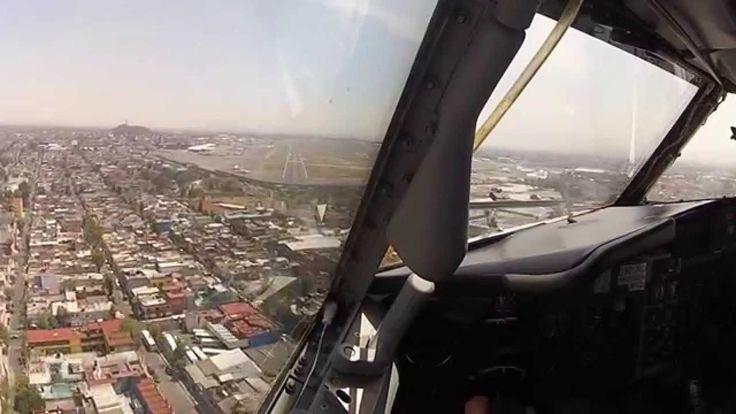 Aterrizaje Ciudad de México vista desde Cabina de Pilotos - Boeing 737-300