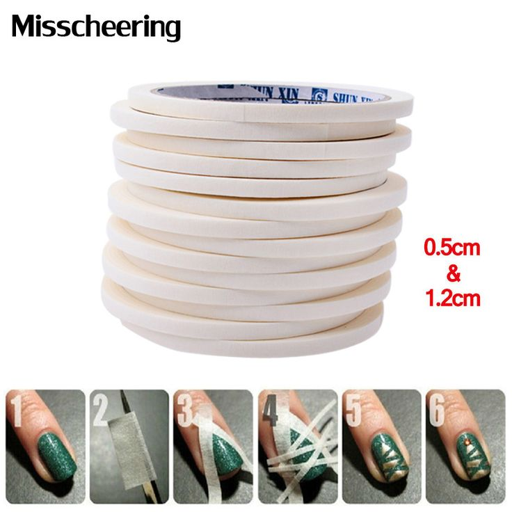 2pcs Nail Art Adhesive Tape 0.5cm&1.2cm17m Creative Design Nail Stickers,Strong Sticky Glue for  DIY Nail Gel Polish Tools #clothing,#shoes,#jewelry,#women,#men,#hats,#watches,#belts,#fashion,#style