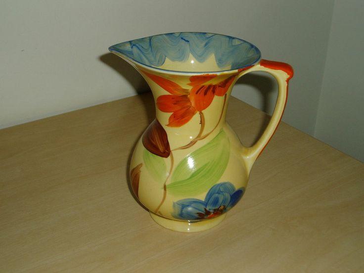 Art Deco 1930s Myott Hand Painted Jug Pitcher Pattern 9774 Art Deco Ceramics Pinterest