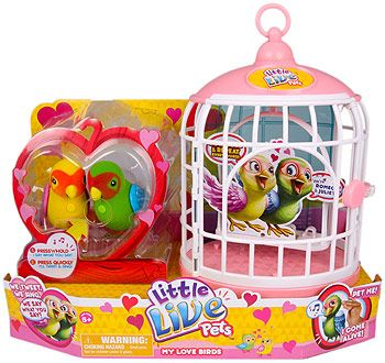 """Little Live Pets Bird Cage Love Birds Double Pack - Moose Toys - Toys """"R"""" Us"""