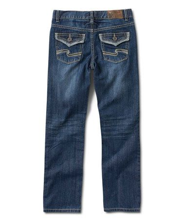 Medium Wash Wave-Stitch Zane Bootcut Jeans - Boys | Silver Jeans