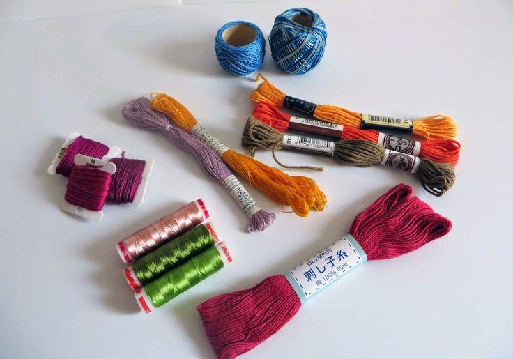 Deshilachado: Hilos para bordar a mano I / Handmade embroidery threads I