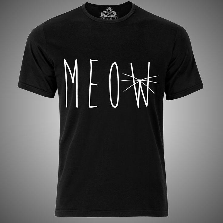 "Modelo ""meow black "" hombre mujer playera moda t-shirt female male fashion"