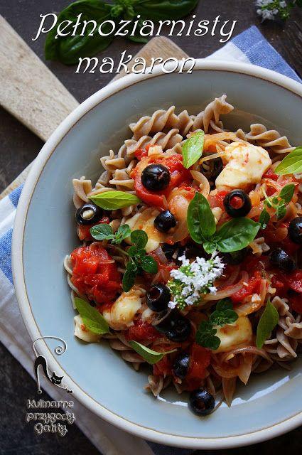 Kulinarne przygody Gatity: Pełnoziarnisty makaron z pieczonymi pomidorami i m...