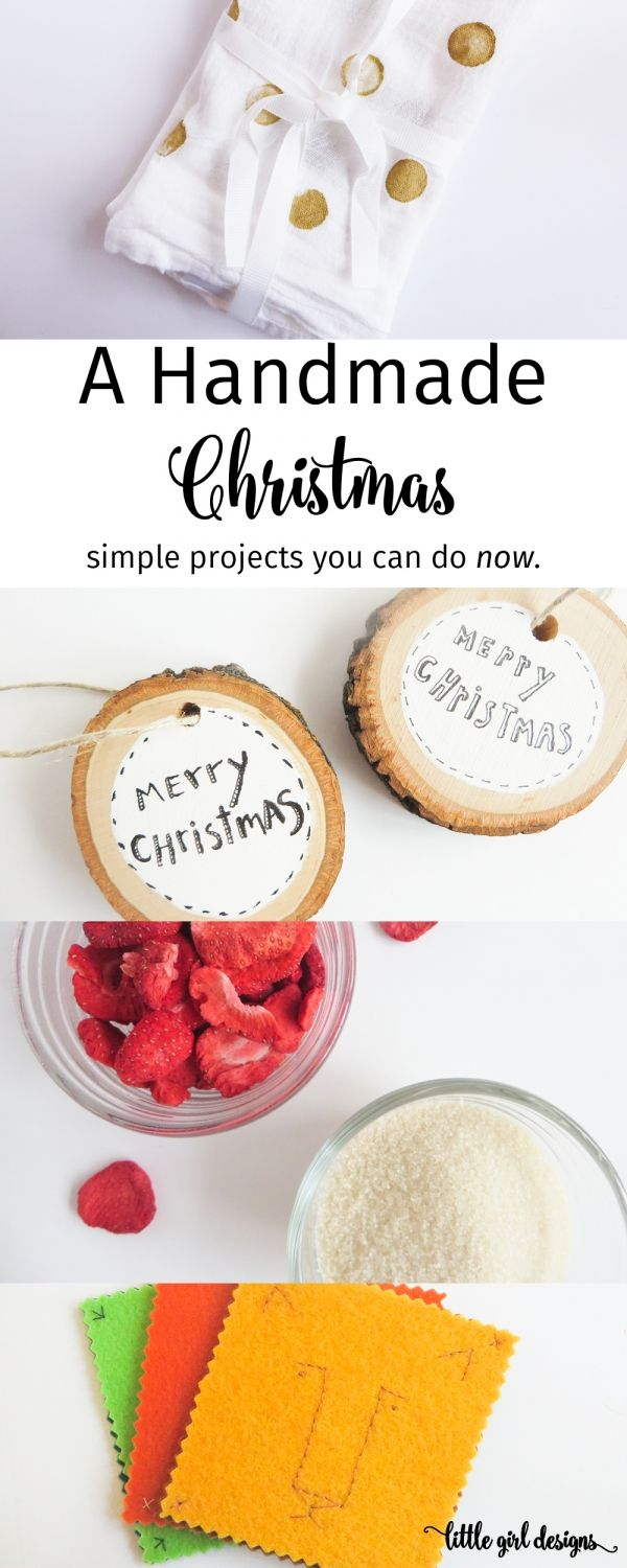 My go-to list of 8 simple handmade gifts to make this year for Christmas. via littlegirldesigns.com