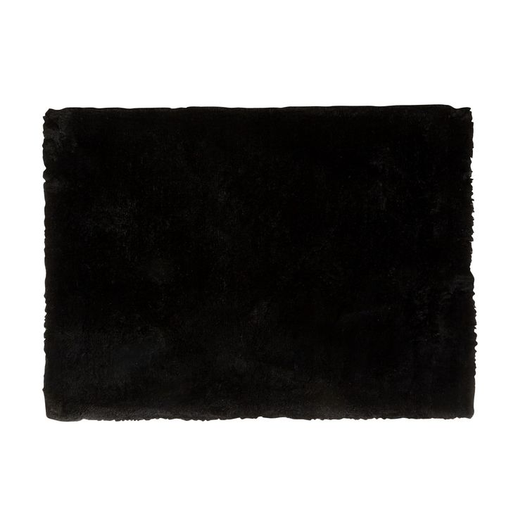 tapis noir poils longs 160x230cm jazz textiles et. Black Bedroom Furniture Sets. Home Design Ideas