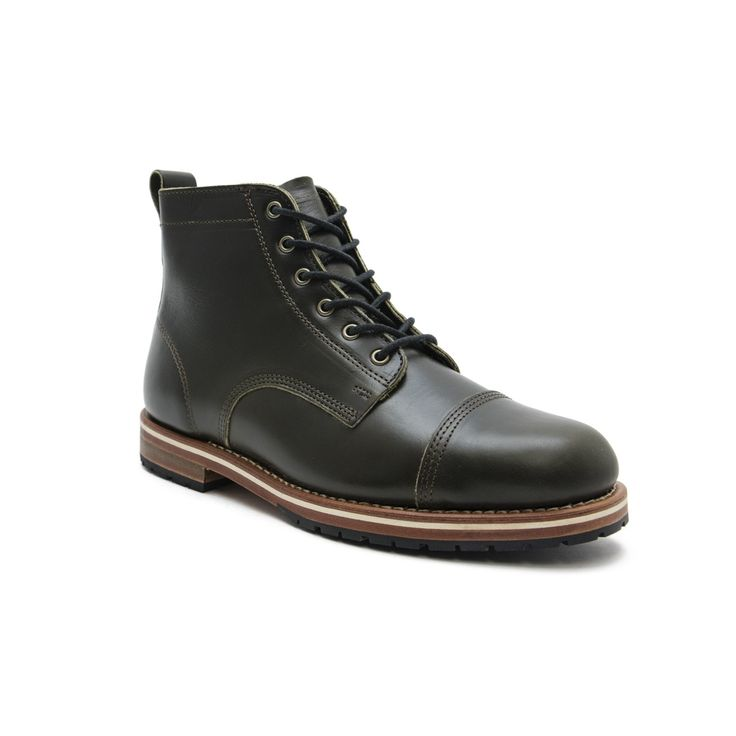 Marion Olive  Right - HELM Boots