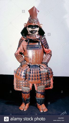 This suit of armour bears a Buddhist gold lacquer inscription on the Stock Photo, Royalty Free Image: 60341679 - Alamy