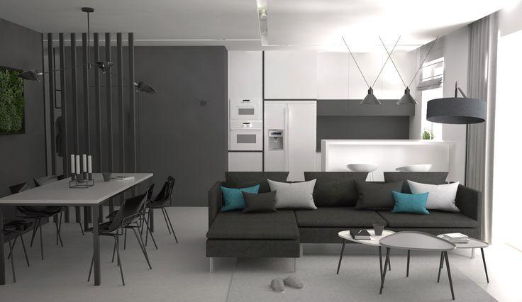 livingroom modern design with PVC floor, Elbląg, Poland