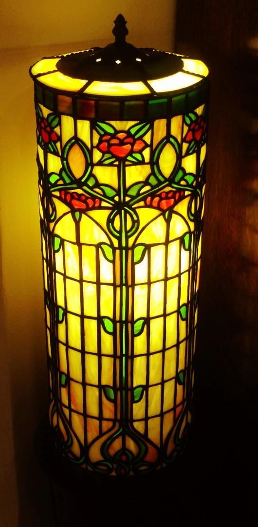 2014 online art glass festival lamps 3rd place art nouveau i