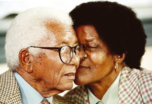 Tata Walter Sisulu with her wife Mamma Albertina Nontsikelelo Sisulu | This is the kind of love I wish I could wake up to, for the rest of my life. #R.I.P to both.