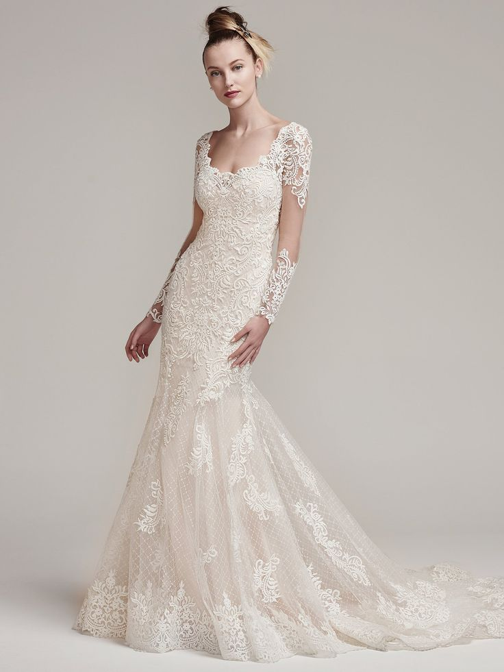 14 best Lace Wedding Dresses images on Pinterest | Wedding frocks ...