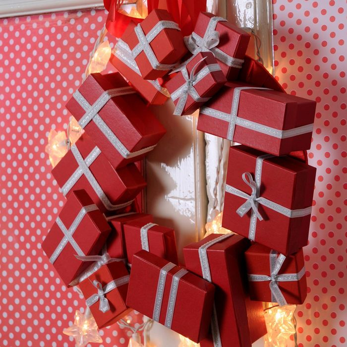 Decoraciones de navidad hechas en casa decor tu hogar con una rosca de navidad entremujeres - Decoraciones para navidad ...