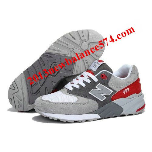 New Balance 999 Seal classic Grey Fire Red men shoes,Half Off New Balance  Shoes