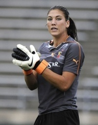 Hope Solo USA Womans Soccer Team!! She is so amazing! Need to get a fathead for Ashley's room now!