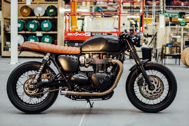Triumph Bonneville T120 Custom for David Beckham's H&M campaign
