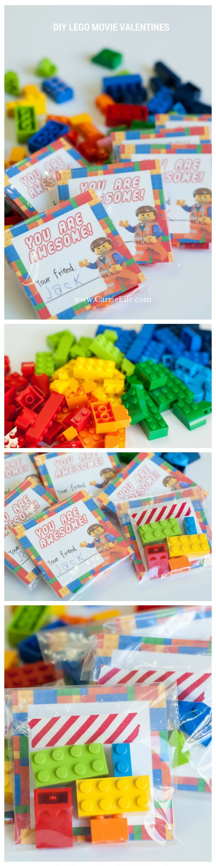 Diy lego movie valentines with free printable lego movie for Diy lego crafts
