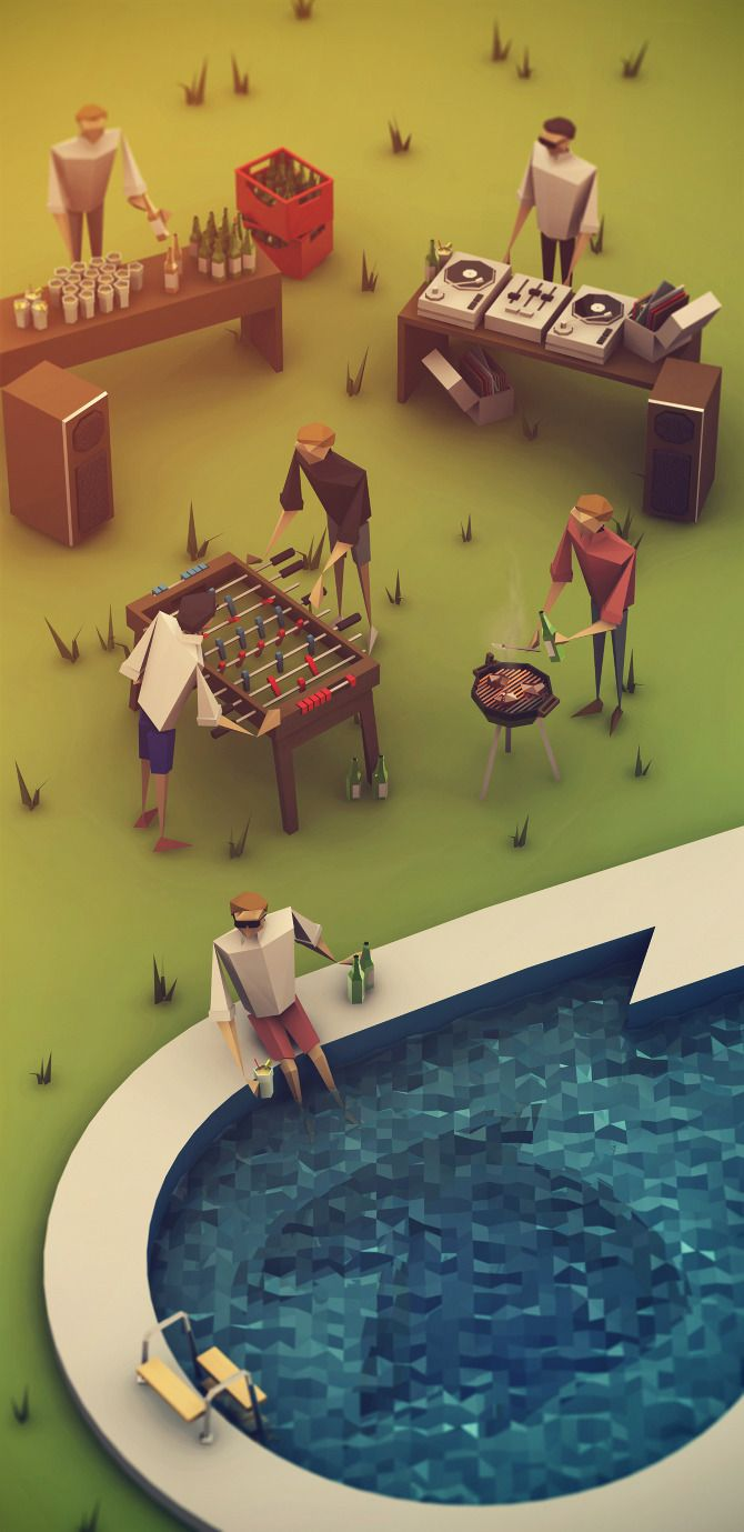 Low Poly Party by Rosch