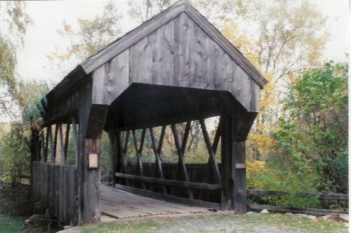 Americana Village Bridge NY-27-01 Village of Madison, NY - Madison County