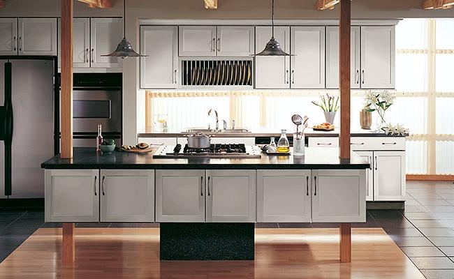Portrait classic door styles accessories merillat for Merillat white kitchen cabinets